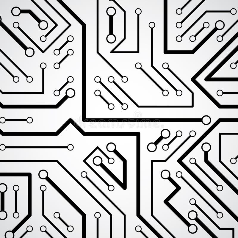 Textura cybernetic futurista da placa de circuito, communi da informação ilustração do vetor