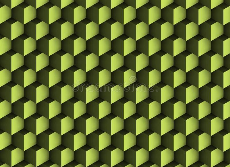 textura 3d esverdeado com sombras e cubos imagens de stock