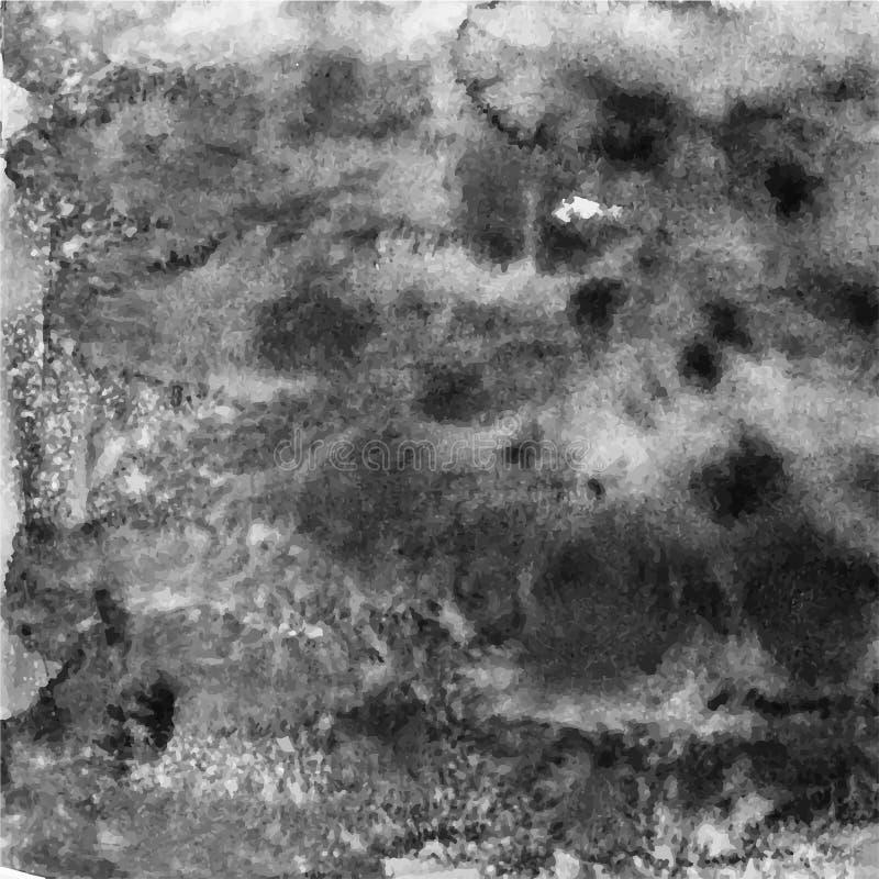Textura da aquarela do vetor Molde de papel do Grunge Papel molhado Blo ilustração royalty free