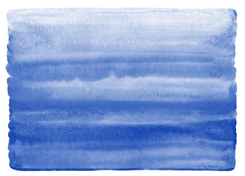 Textura da aquarela dos azuis marinhos com borda desigual, arredondada ilustração do vetor