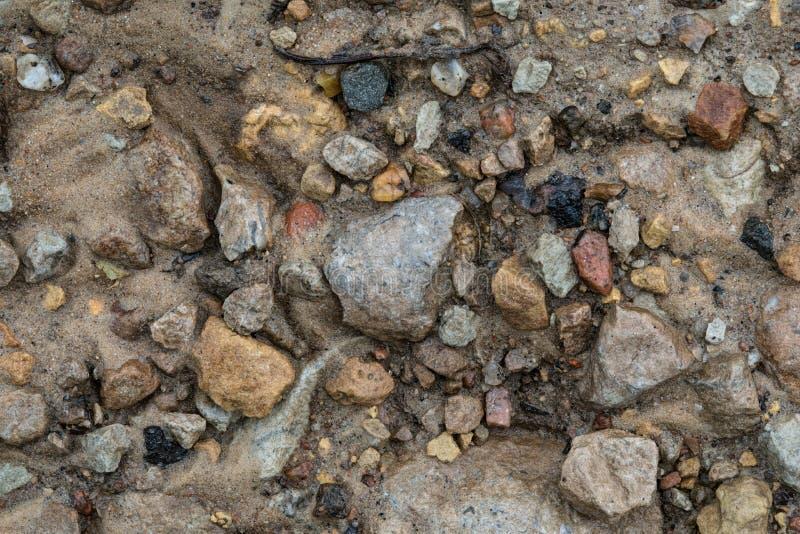 Textura da areia, da pedra e da lama após a chuva imagens de stock royalty free