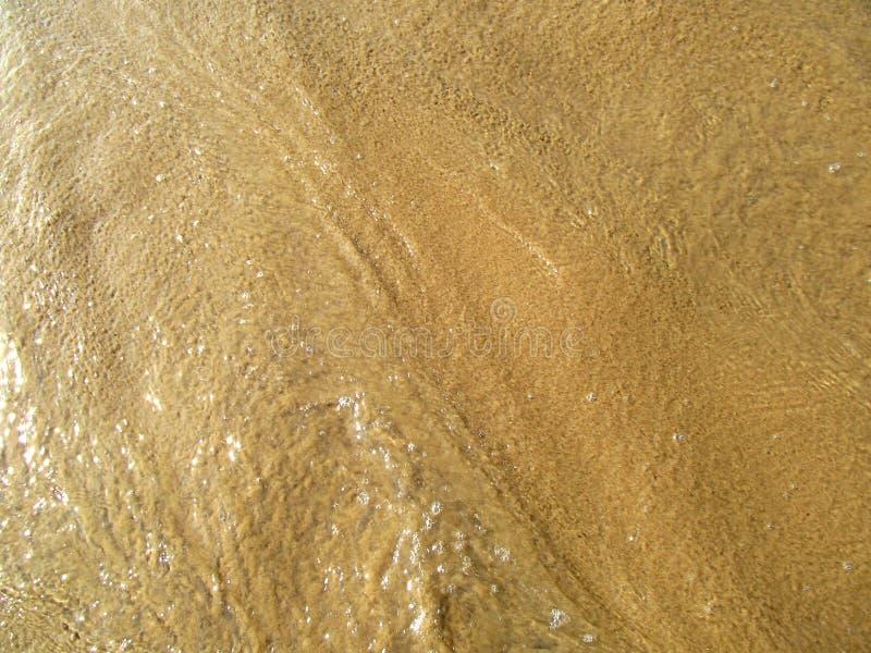 Textura da areia da praia do mar foto de stock