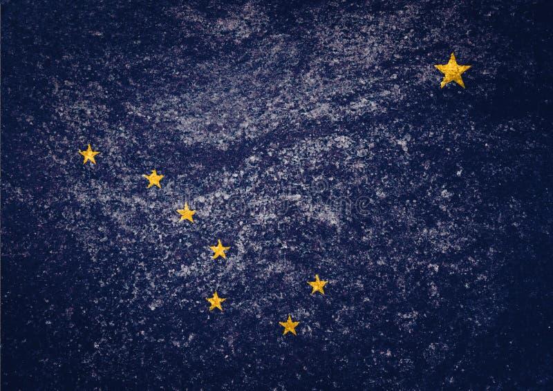 Textura da bandeira de Alaska imagem de stock royalty free