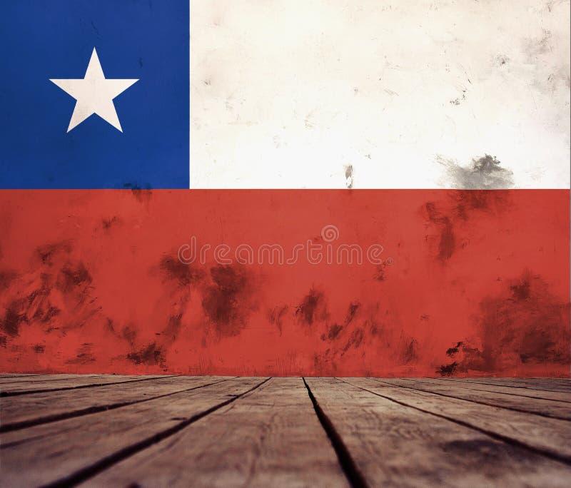 Textura da bandeira do Chile fotografia de stock