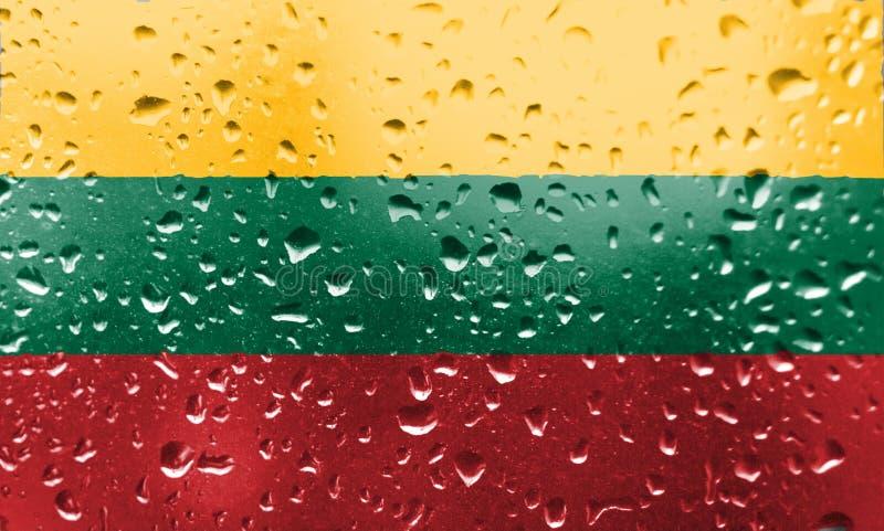Textura da bandeira Lituânia foto de stock