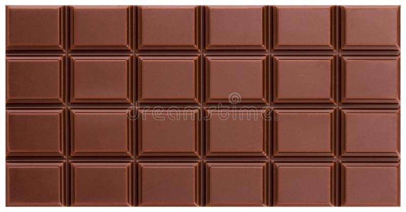 Textura da barra de chocolate do leite da vista superior fotos de stock