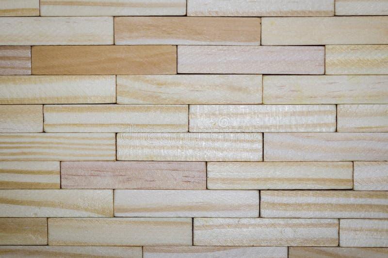 Textura da barra de madeira, mesma que a parede de tijolo fotos de stock royalty free