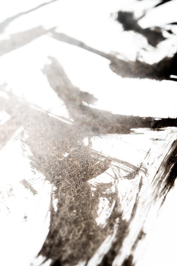 Textura da caligrafia japonesa e do pulverizador branco da cor fotos de stock royalty free