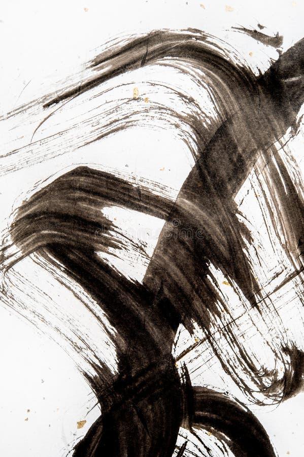 Textura da caligrafia japonesa e do pulverizador branco da cor imagem de stock royalty free