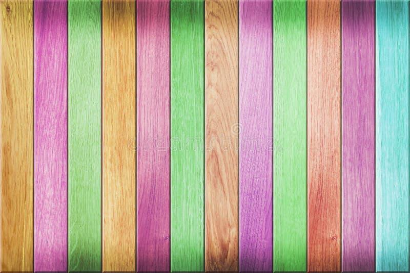 Textura da cerca de madeira colorida fotografia de stock