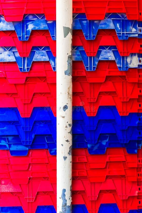 Textura da cor pastel plástica da caixa do vintage e teste padrão criativos FO fotografia de stock