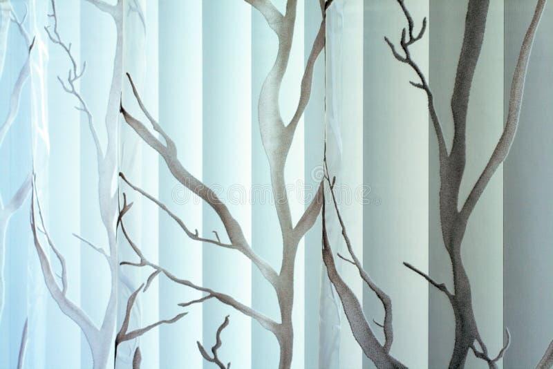 Textura da cortina e do jalousie vertical imagens de stock royalty free