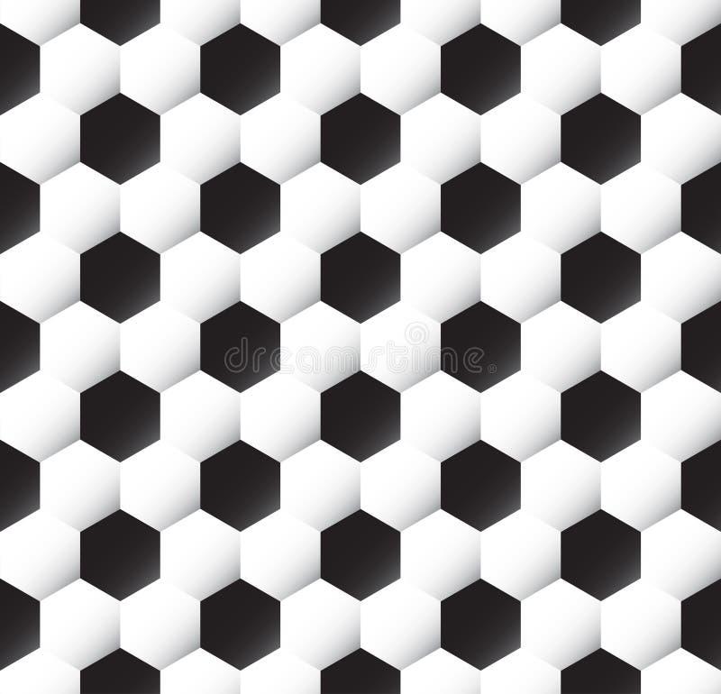 Textura da esfera de futebol ilustração stock