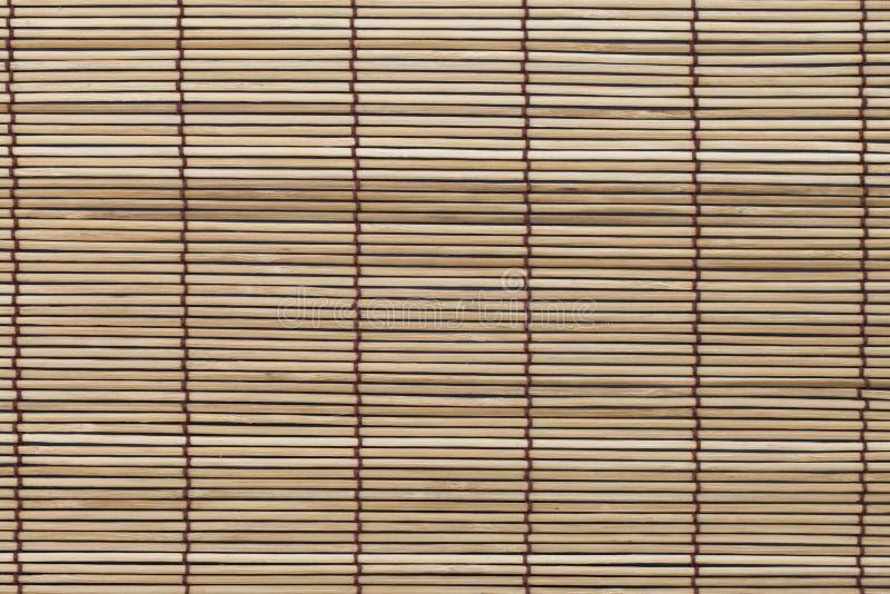 Textura da esteira de bambu, cortina imagens de stock