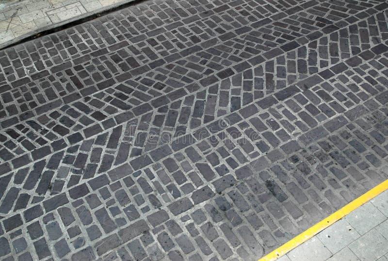 Textura da estrada do cobblestone imagens de stock