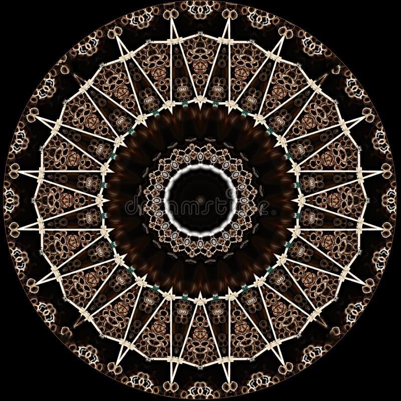 Textura da estrela do projeto da arte de Digitas no preto ilustração royalty free