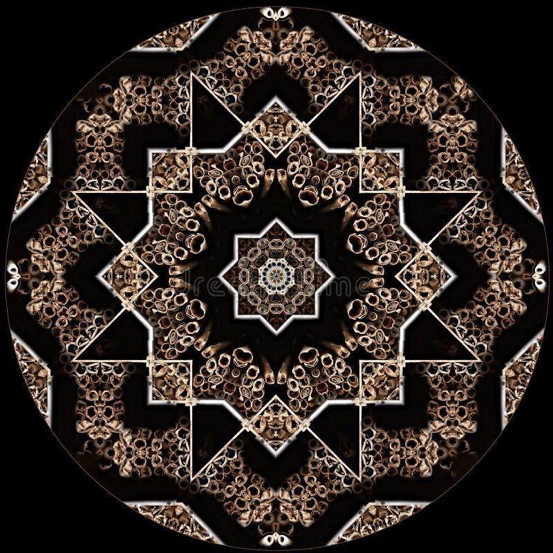Textura da estrela do projeto da arte de Digitas no preto ilustração do vetor