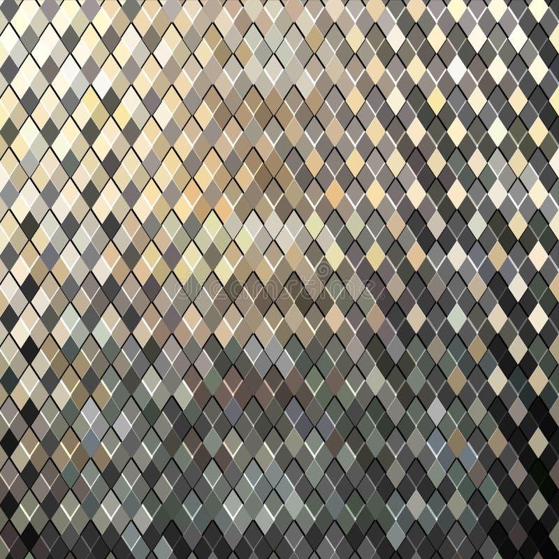 Textura da estrutura do metal da oxidação Fundo de aço da grade do grunge velho ilustração do vetor