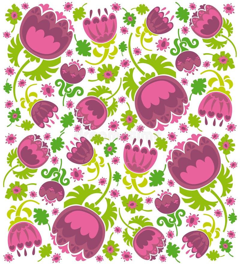 Textura da flor ilustração do vetor