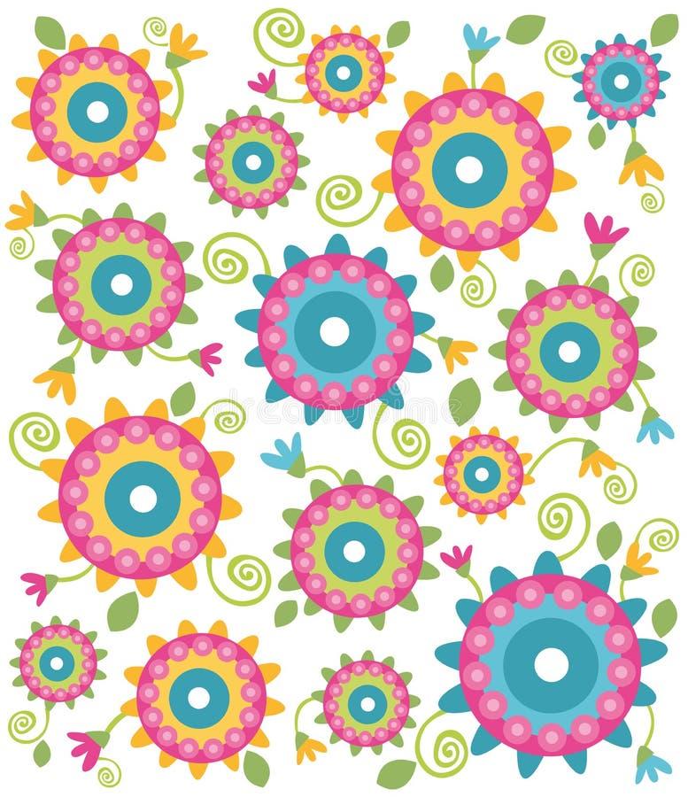 Textura da flor ilustração royalty free