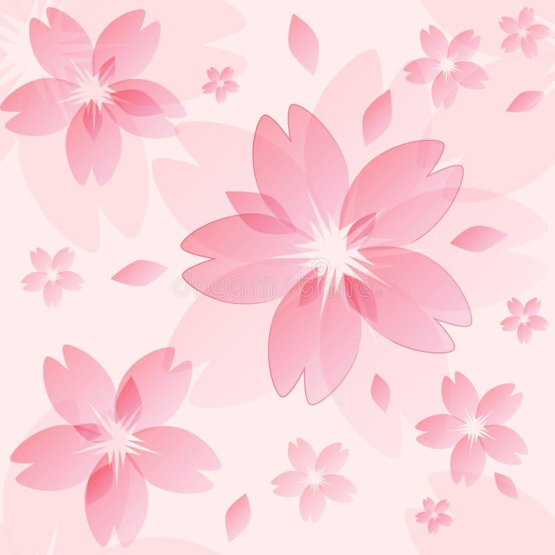 Textura da flor de Sakura ilustração royalty free