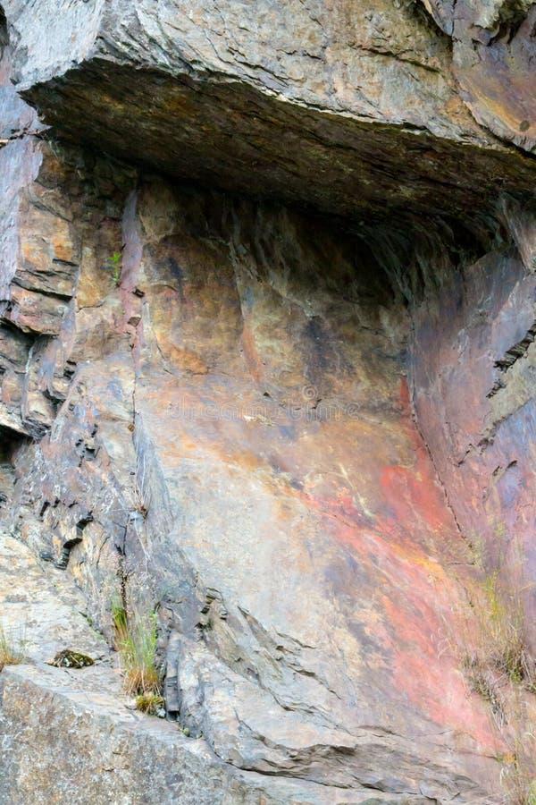 Textura da formação de pedra no parque nacional Eifel fotos de stock