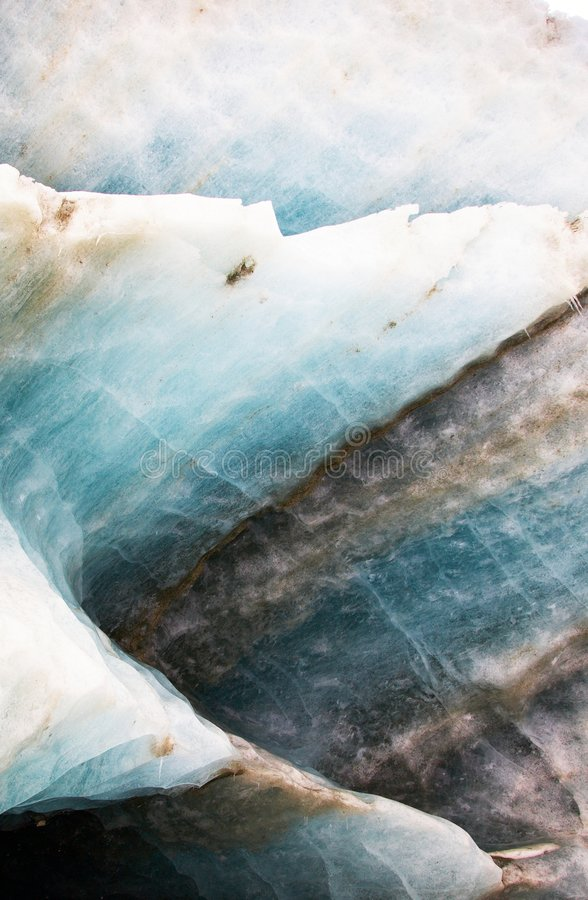 Textura da geleira da montanha fotografia de stock royalty free