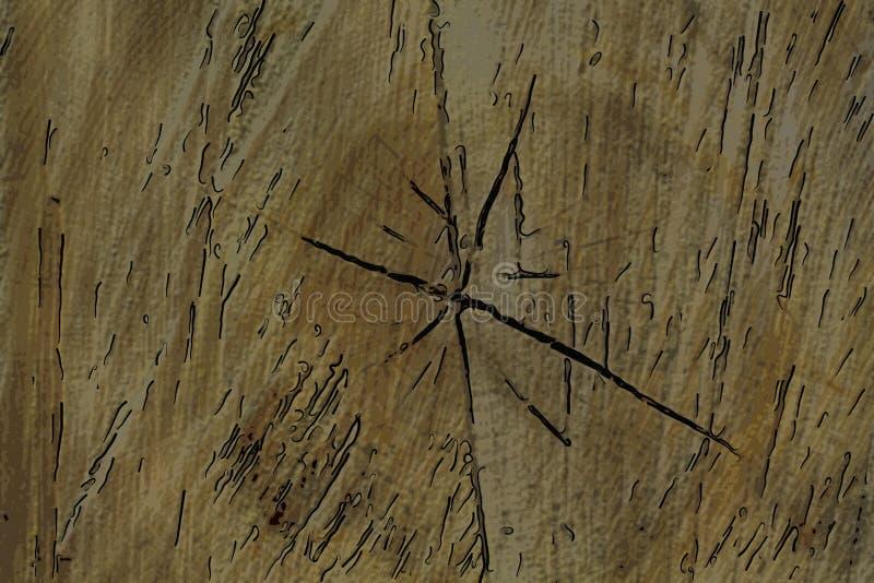 Textura da madeira de pinho, fundo gráfico de madeira ilustração stock