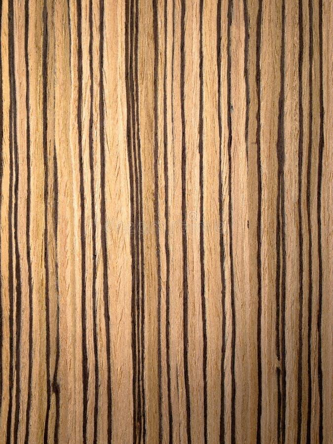 Textura da madeira de Zebrano imagem de stock royalty free