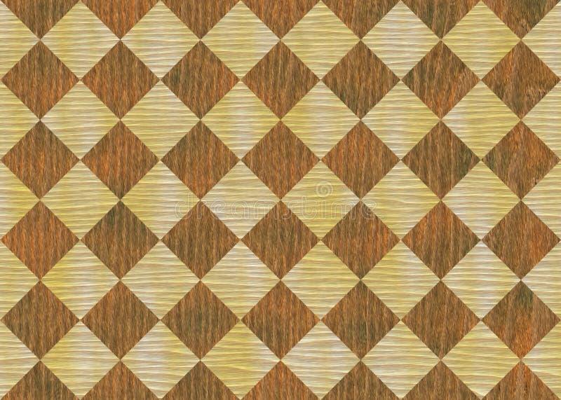 Textura da madeira do teste padrão do diamante ilustração stock