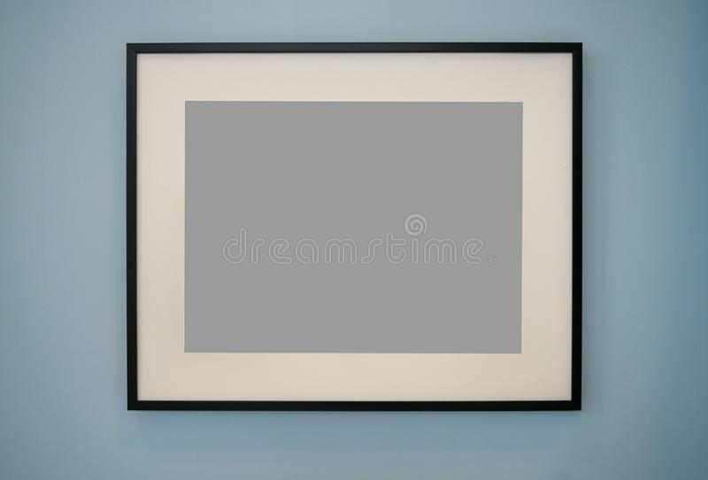 Textura da moldura para retrato e da parede com trajeto de grampeamento foto de stock
