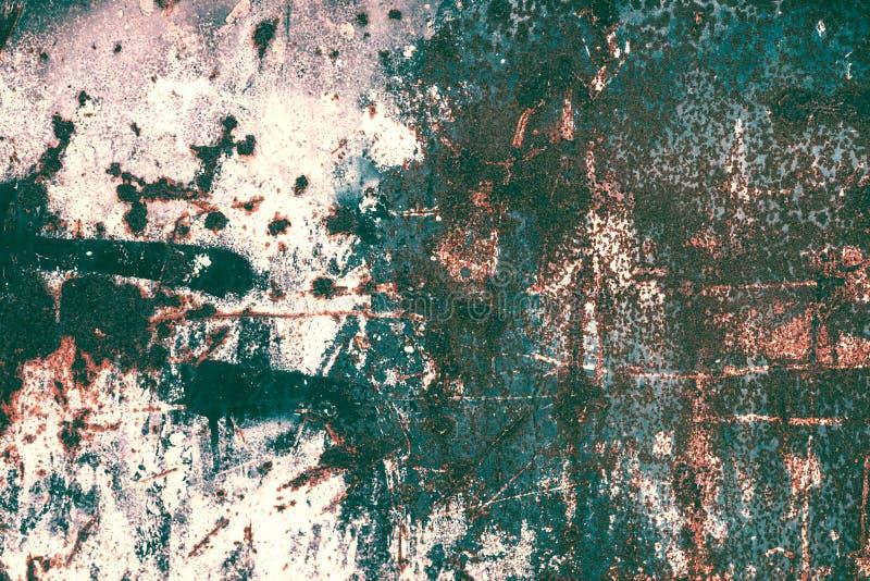 Textura da oxidação Backgr textured metal riscado velho oxidado colorido imagem de stock