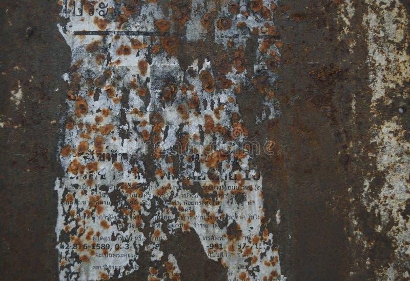 Textura da oxidação do ferro do Grunge imagens de stock