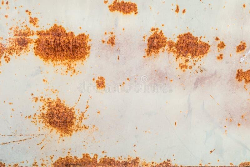 Textura da oxidação em uma estrutura velha do metal imagens de stock