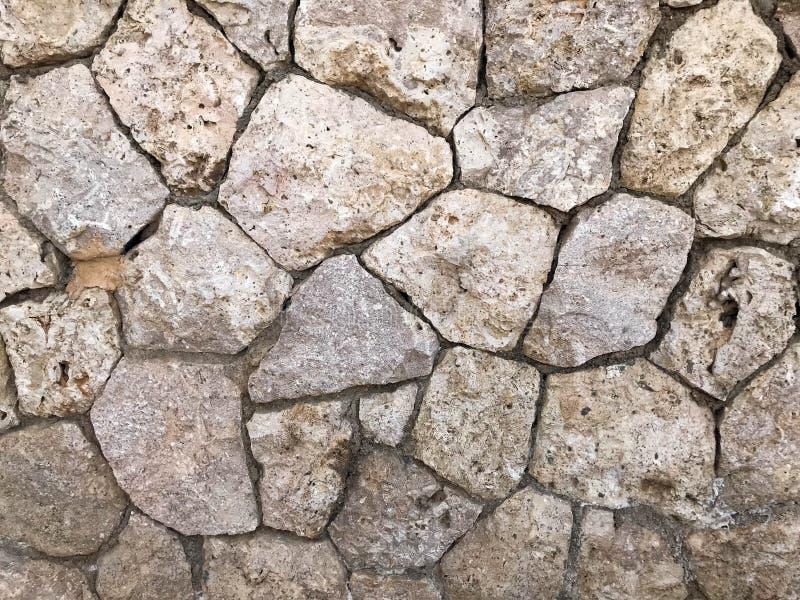A textura da parede é feita do cinza velho, velho, baralhado liso, natural bonito apresentado densamente sem diferenças, pedras, foto de stock royalty free