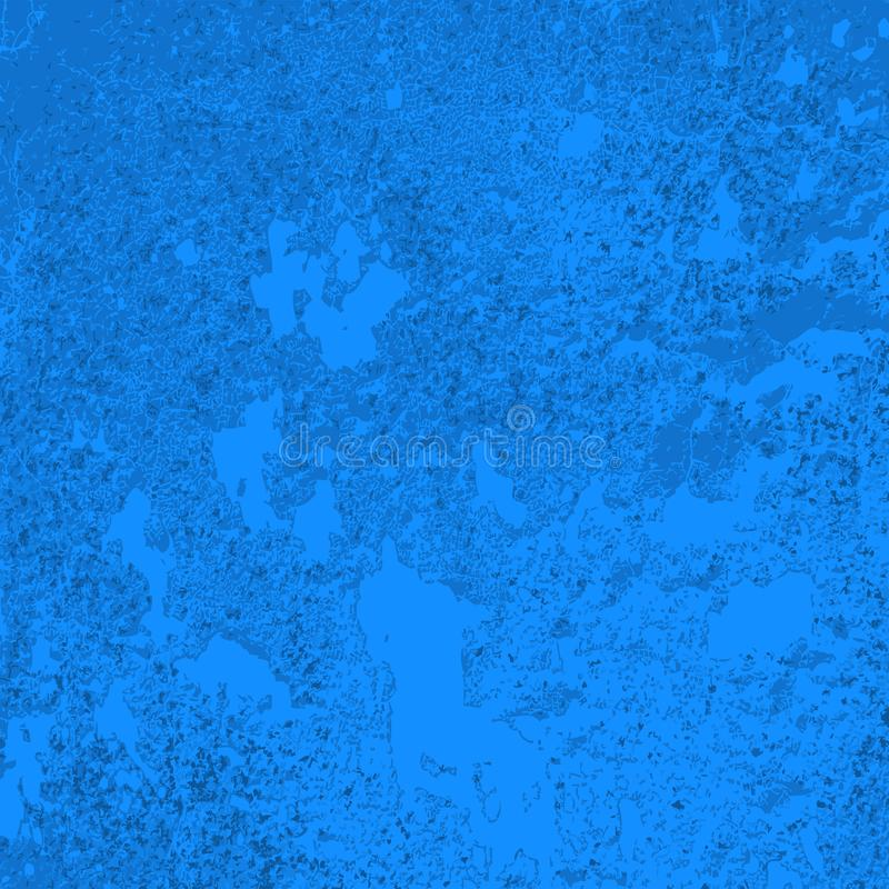 Textura da parede azul do concret velho ilustração royalty free