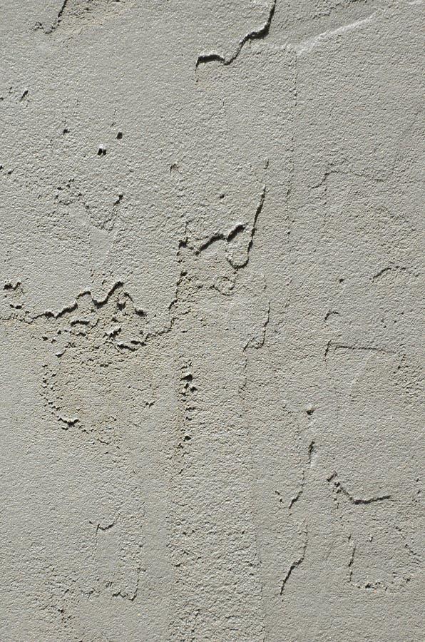 A textura da parede, coberta com as placas cinzentas do poliestireno de espuma, que são manchadas com uma mistura de reforço Fase foto de stock royalty free
