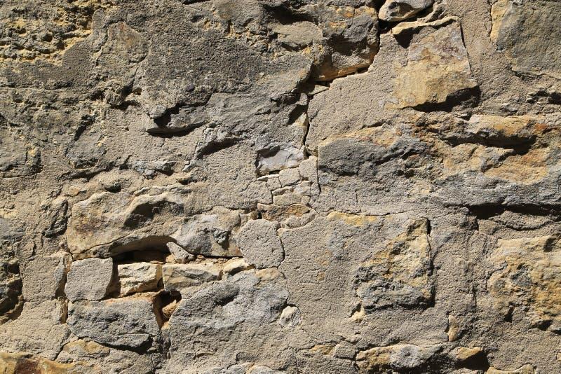 Textura da parede de pedra muito velha fotografia de stock royalty free