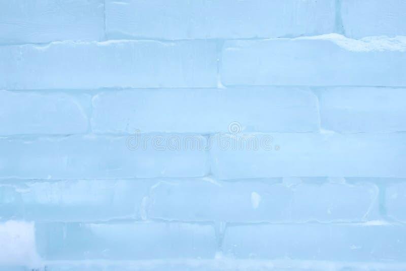 Textura da parede de tijolo do gelo usando-se como o fundo, opinião do close-up fotografia de stock
