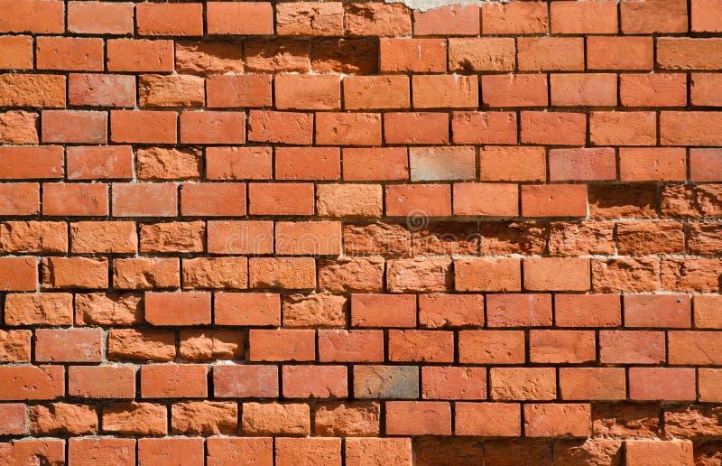Textura da parede de tijolo vermelho imagens de stock