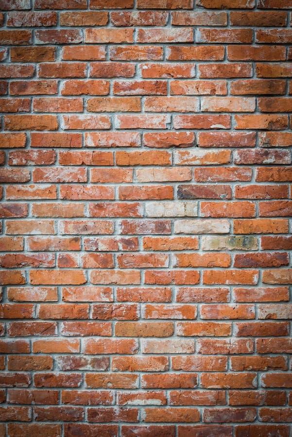 Textura da parede de tijolo vermelho com cantos vignetted fotografia de stock royalty free