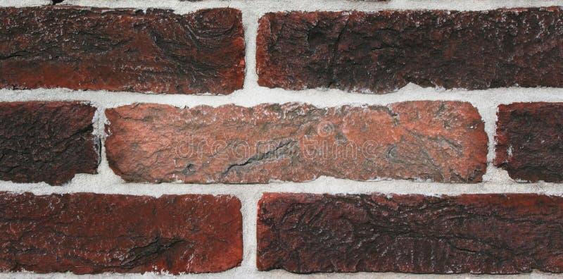 Textura da parede de tijolo vermelho velha fotografia de stock royalty free