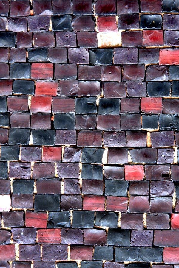 textura da parede do mosaico imagens de stock