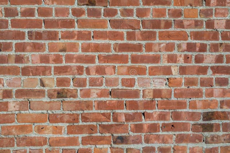 Textura da parede do vermelho alaranjado do clinquer da telha do tijolo imagens de stock