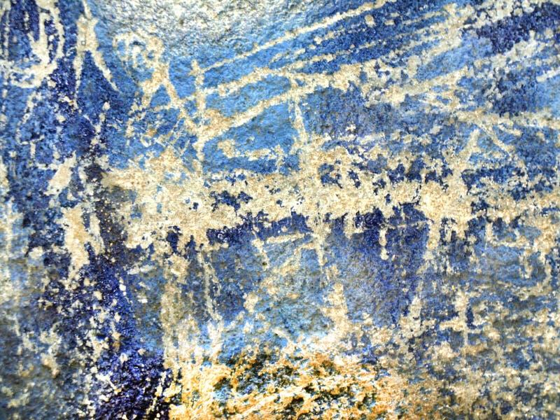 Textura da parede velha com uma pintura gasto. ilustração do vetor