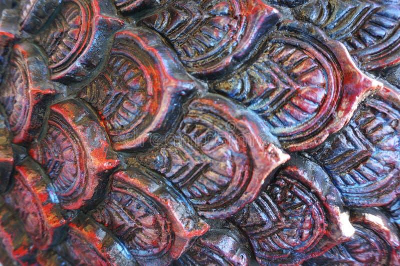 Textura da pele do dragão do cimento fotografia de stock