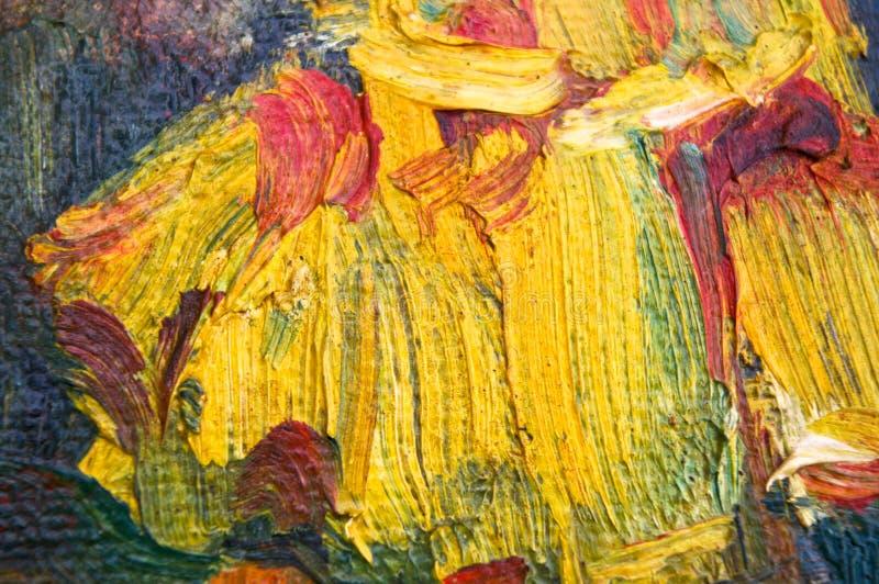 Textura da pintura a óleo foto de stock royalty free