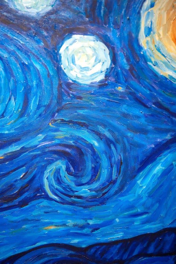 Textura da pintura a óleo ilustração royalty free