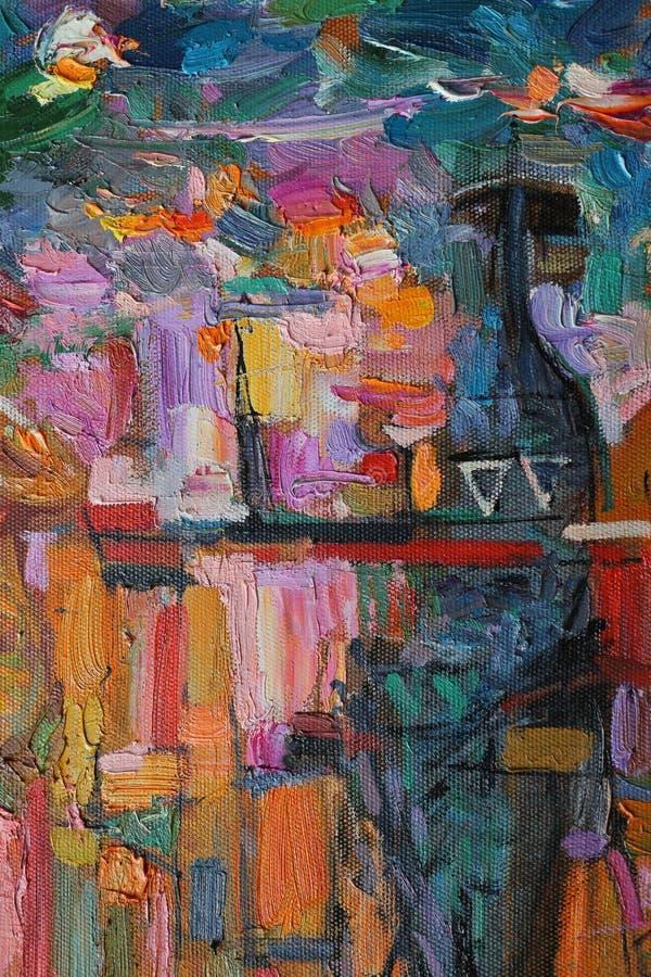 Textura da pintura a óleo autor que pinta Roman Nogin conversa do ` s das mulheres do ` da série ` imagens de stock royalty free