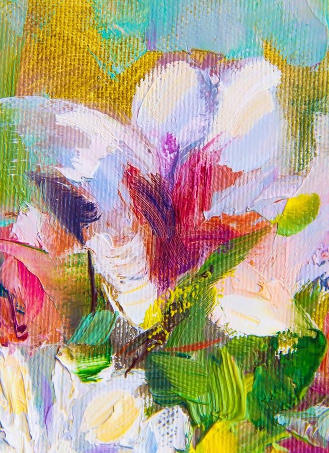 Textura da pintura a óleo, cor de Art Painted Image, pintura, ` do artista fotos de stock